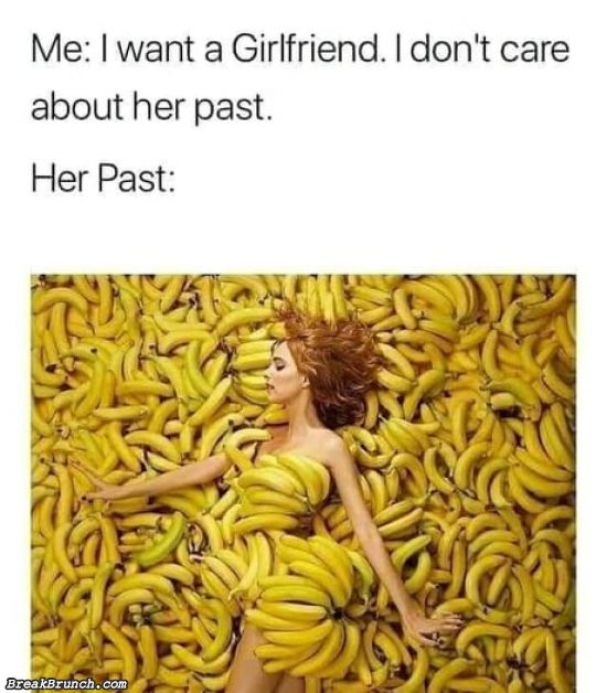 I don't care about her past