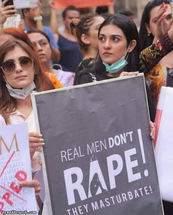 Real men don't rape
