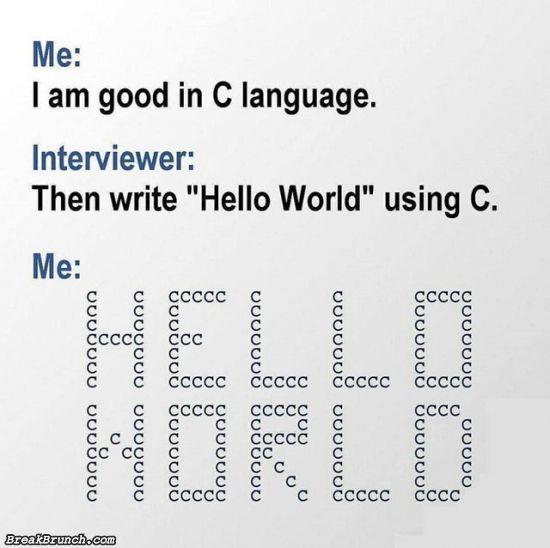 I am good in C programming