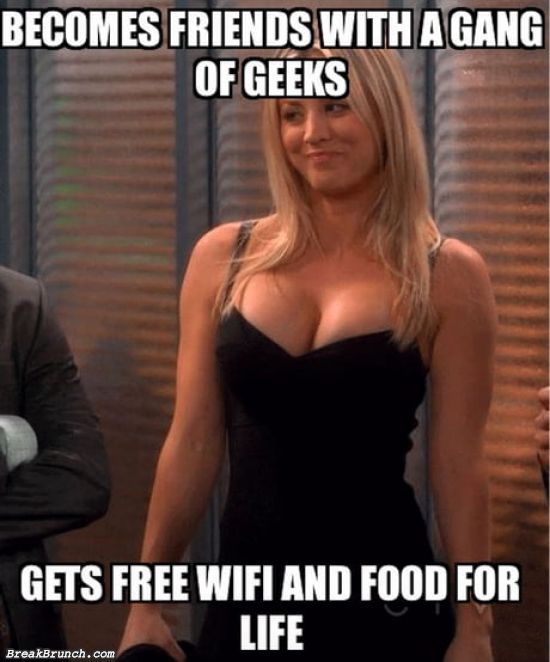 How to get free wifi and food for life
