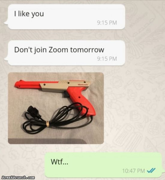 Don't join zoom tomorrow