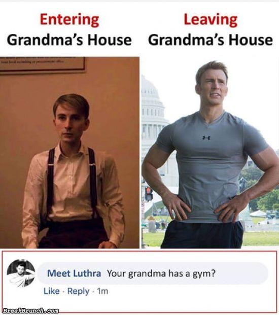 When you leave grandma's house