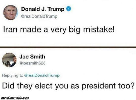 Iran made a very big mistake