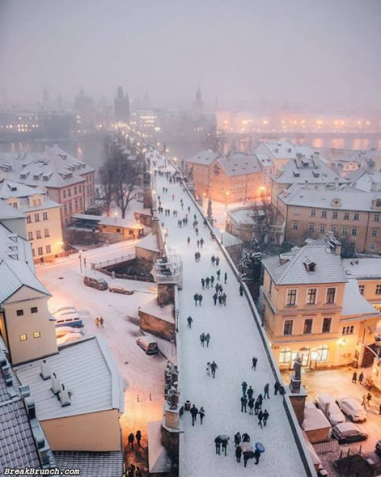 Prague during the winter