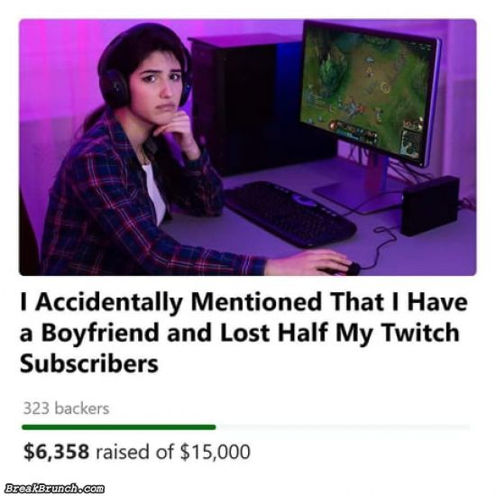 She lost half of her Twitch subscribers