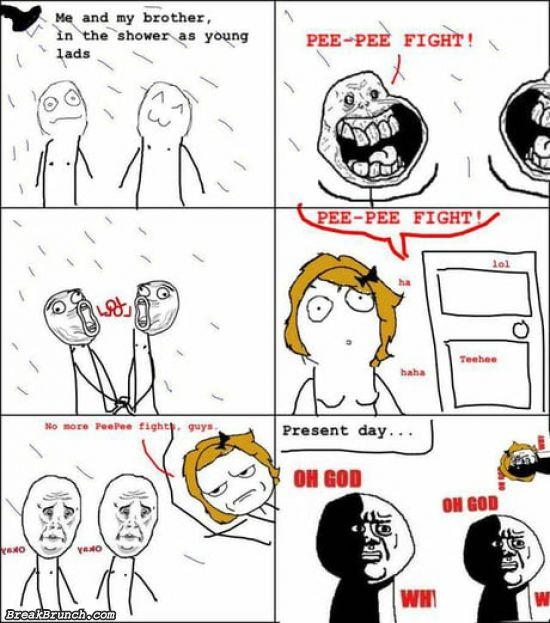 Pee pee fight