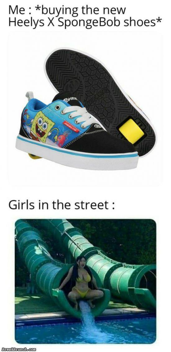Buying new Heelys X spongebob shoes
