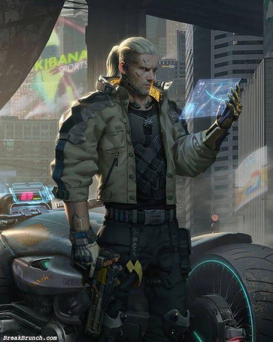Geralt in cyberpunk 2077