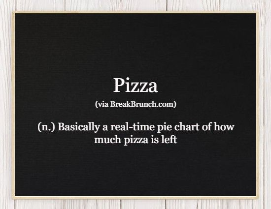 Hilarious Honest Dictionary – Pizza
