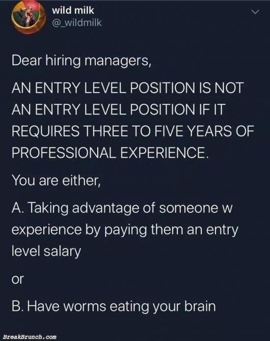 Dear hiring manager