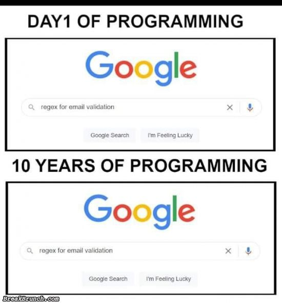 Programming never change