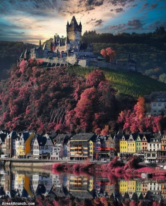 Cochem Imperial castle in Rhineland-Palatinate, Germany