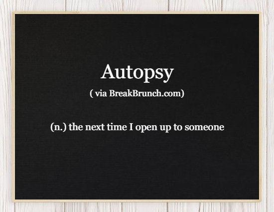 Honest Dictionary – Autopsy