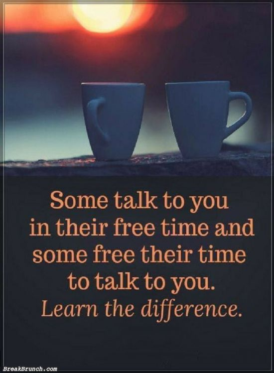 Some free their time to talk to you