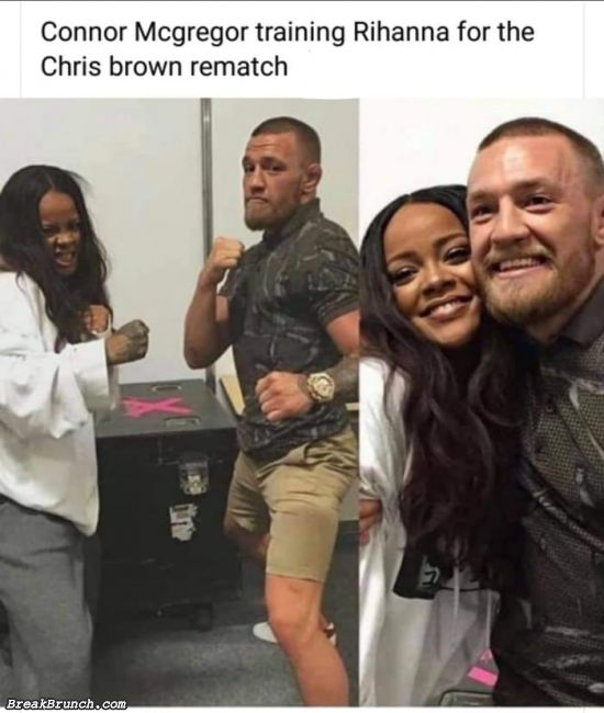 Connor Mcgregor training Rihanna for Chris Brown rematch