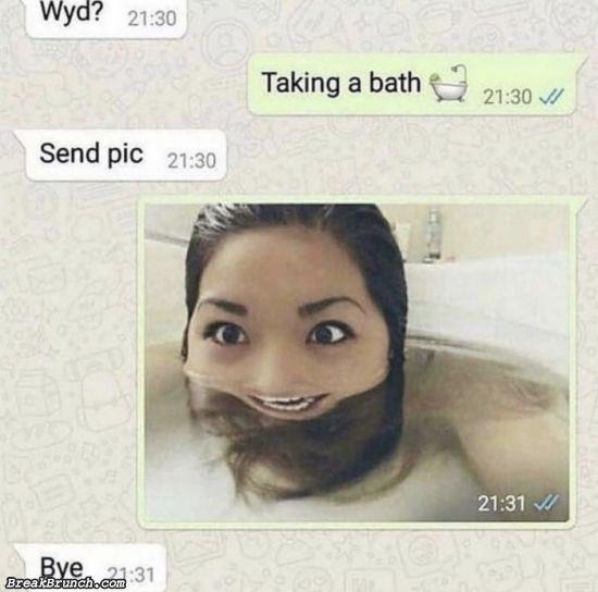 Send bath picture