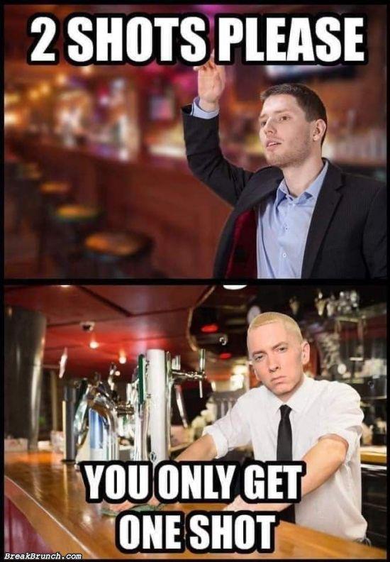 When Eminem is the bartender