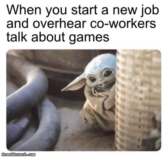 When someone is talking about game