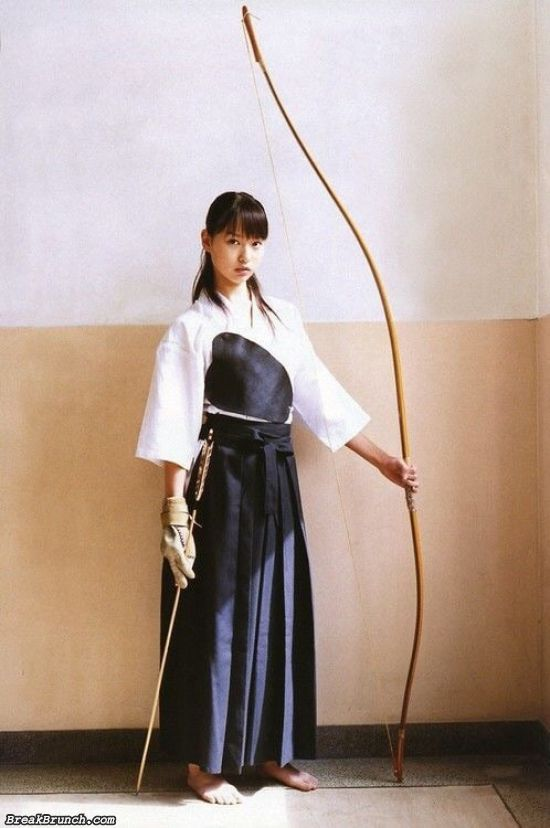 Cute Japanese archery girl